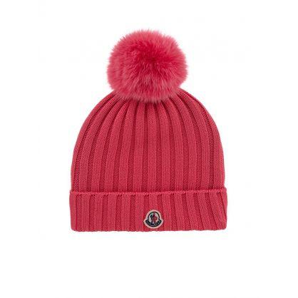Pink Berretto Bobble Hat