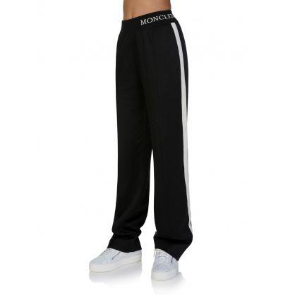 Black Long Satin Casual Trousers