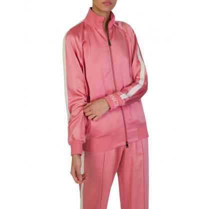 Pink Zippered Silk Camicia Jacket
