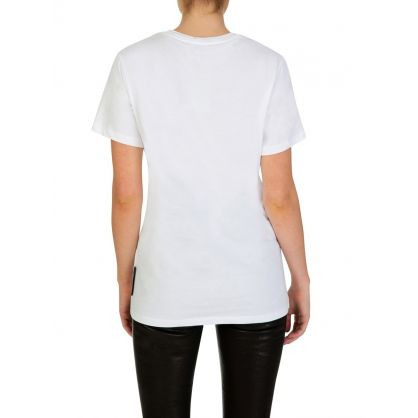 White Oblique Stripe T-Shirt
