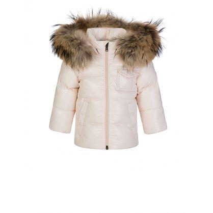 Pink K2 Giubbotto Fur Hooded Coat