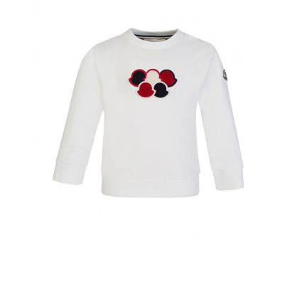 White Long-Sleeved Logo Sweatshirt