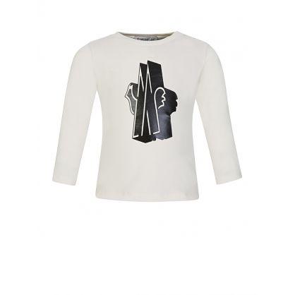 Ivory Printed Logo T-Shirt