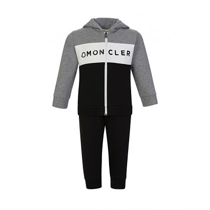 Grey Logo Hooded Tracksuit