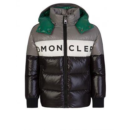 Black/Grey Nylon Febrege Jacket