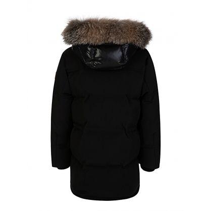 Black Down Padded Feyt Coat