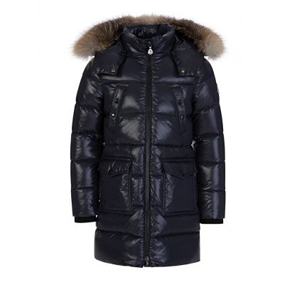 Navy Sagnes Puffa Fur Coat
