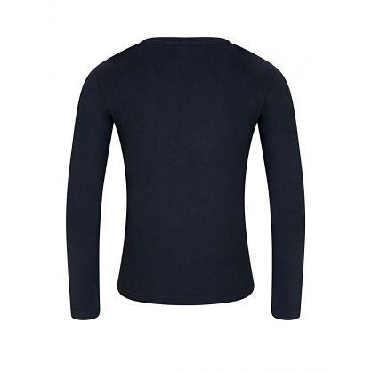 Navy Long-Sleeved Logo T-Shirt