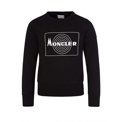 Black Rubberised Logo Sweatshirt