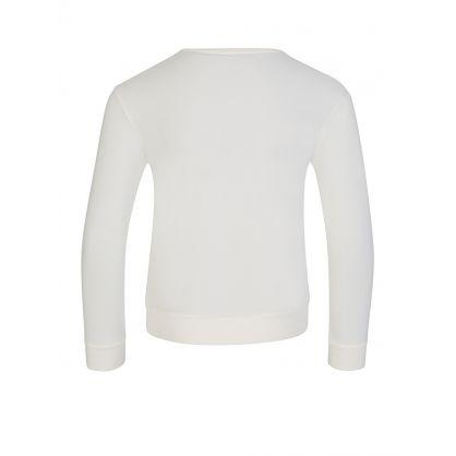 Ivory Glitter Logo T-Shirt