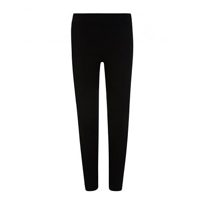 Black Logo Tape Leggings