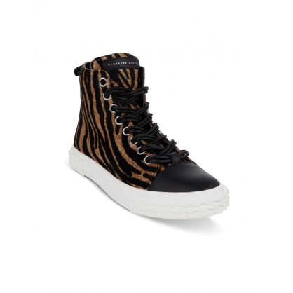 Tiger Print Blabber Hi-Top Trainers