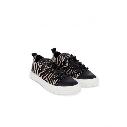 Blabber Zebra Print Low-Top Trainers