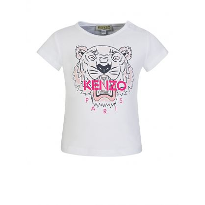 Baby  White Tiger Head T-Shirt