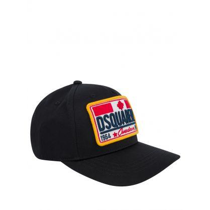 Kids Black Canadian Logo Cap