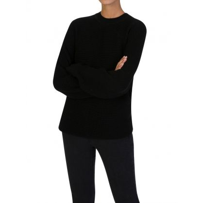 Black Oversized Axel Jumper