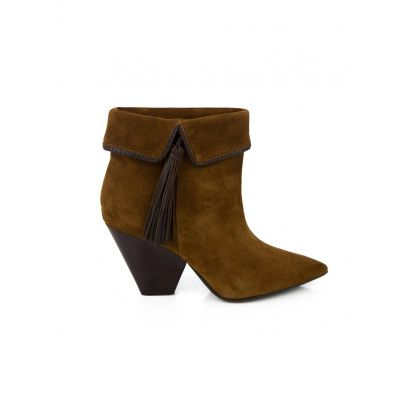 Brown Suede Maria Boots