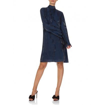 Navy Wave Dress