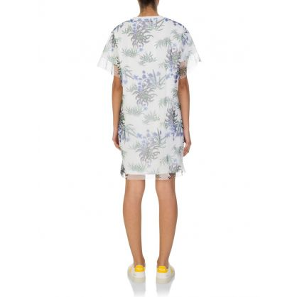 White Sea Lily T-Shirt Dress