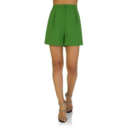 Lime Pleated Shorts