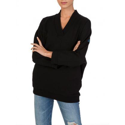 Black Glitter Logo Sweatshirt