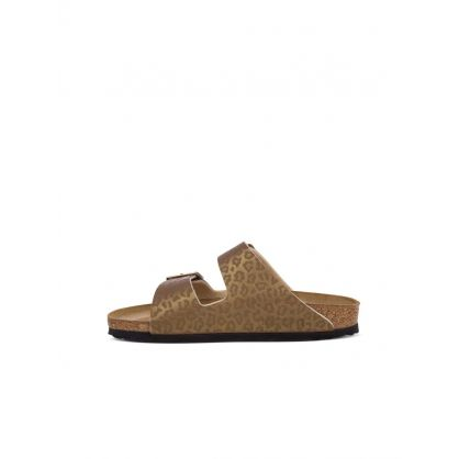 Gold Leopard Arizona Birko-Flor Sandals