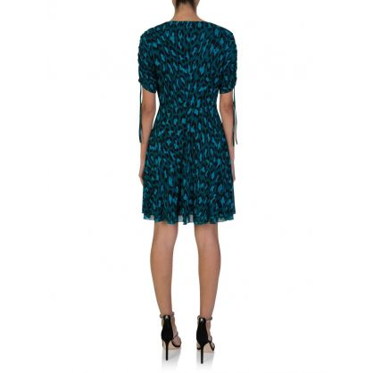 Carin Green Leopard Print Dress