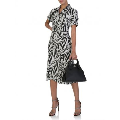 Black/White Deborah Midi Dress