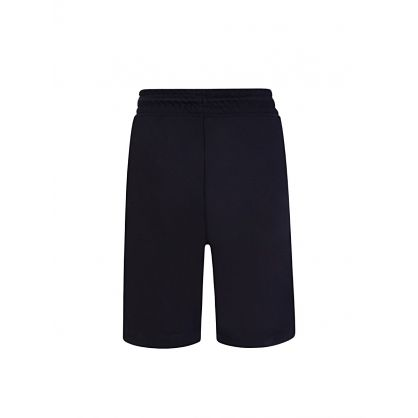 Junior Navy Towelling Stripe Shorts