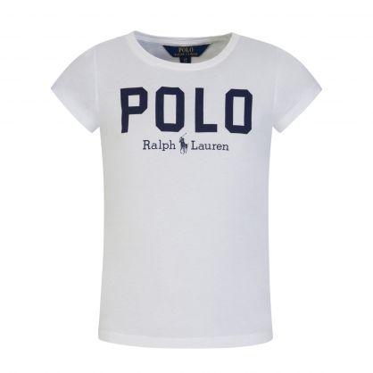 Kids White Logo T-Shirt