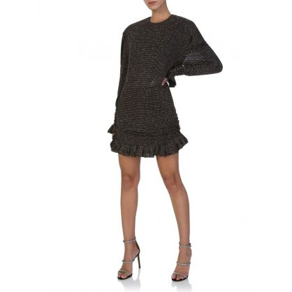 Di Lorenzo Serafini Black Crystal Embellished Dress
