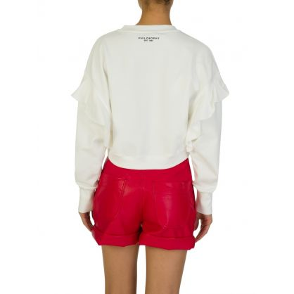 Di Lorenzo Serafini Cream LOVE Sweatshirt