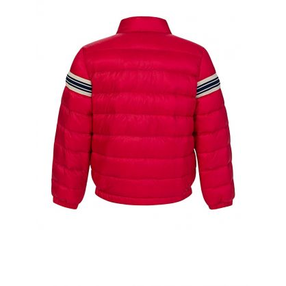Red Stripe Puffer Haraiki Jacket