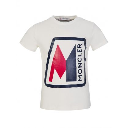 Cream Chest Logo T-Shirt