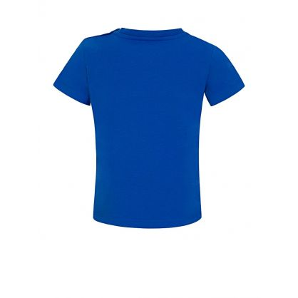Blue Striped Logo T-Shirt
