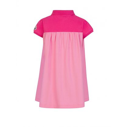 Pink Cotton Polo Dress
