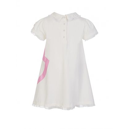 White Double Logo Dress