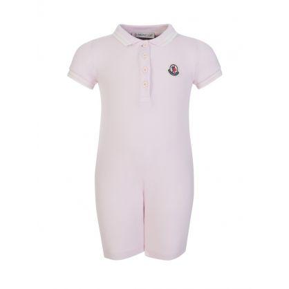 Pink Polo Babygrow