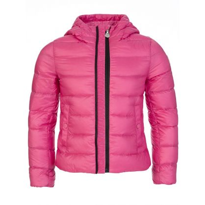 Pink Hooded Puffer Jacket