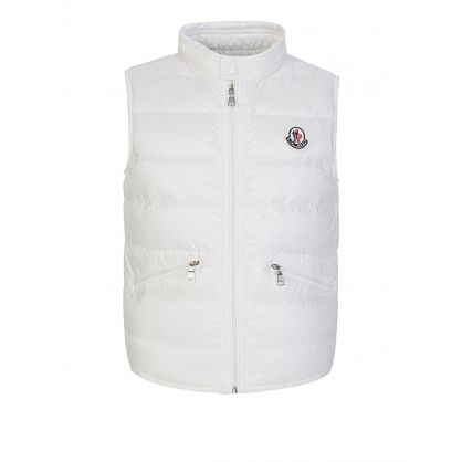 White Gui Down Filled Gilet