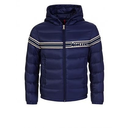Navy Stripe Puffa Renald Jacket