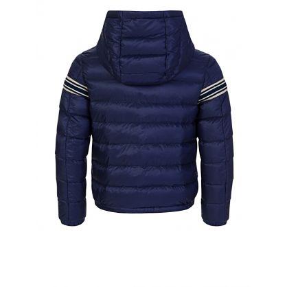 Navy Stripe Puffer Renald Jacket
