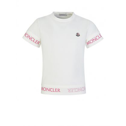 Cream Logo Tipped T-Shirt
