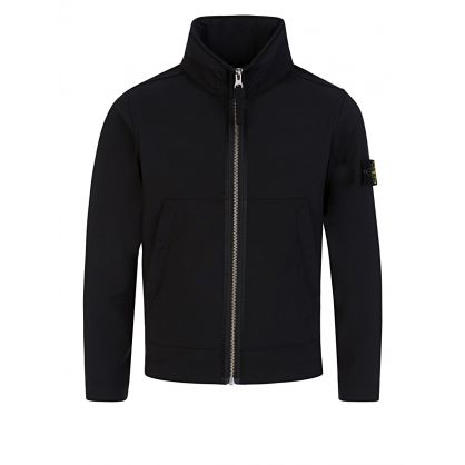 Junior Black Soft Shell Zip-Through Jacket