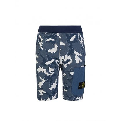 Junior Navy Camouflage Shorts