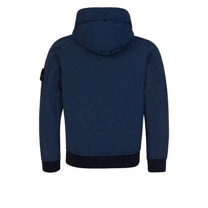 Junior Blue Nylon Hooded Jacket