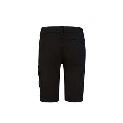 Junior Black Cargo Shorts