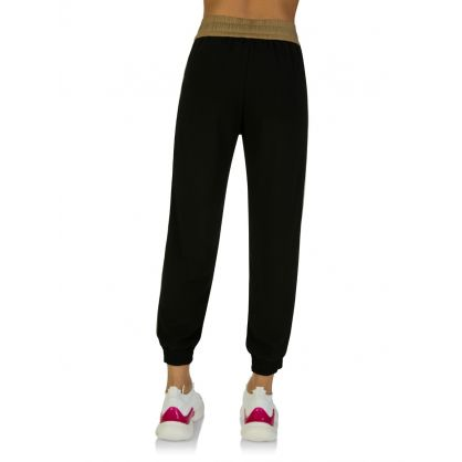 Black Tie Waist Casual Trousers
