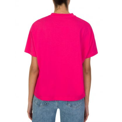 Pink Metallic Logo T-Shirt