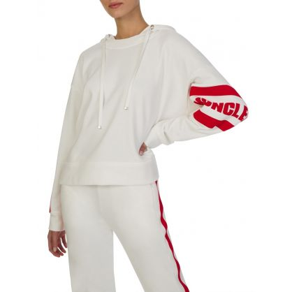 White Sleeve Logo Hoodie